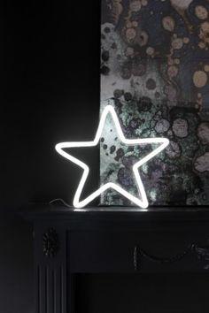 Neon Light - Star - White