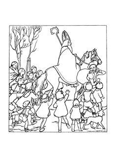 Sinterklaas Goedheiligman Met je beste tabberd an Rij er mee naar Amsterdam Van Amsterdam naar Spanje Appeltjes van Oranje Appeltjes aan de bomen Sinterklaas zal komen!