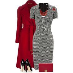 """Gray Jersey Dress"" by daiscat on Polyvore"