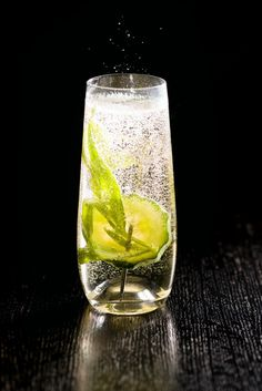 Fancy Pants cocktail recipe. Try this light and refreshing drink that's bringing a new twist to the champagne cocktail trend.