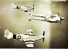 6th Recon Group P-51 Mustangs and P-38
