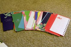 Cool idea for old lilly pulitzer agenda pages!