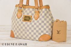 Louis Vuitton Damier Azur Hampstead PM Tote Bag N51207