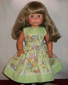 American-Girl-Doll-Lime-Green-and-Easter-Print-Dress-for-18-or-AG-doll