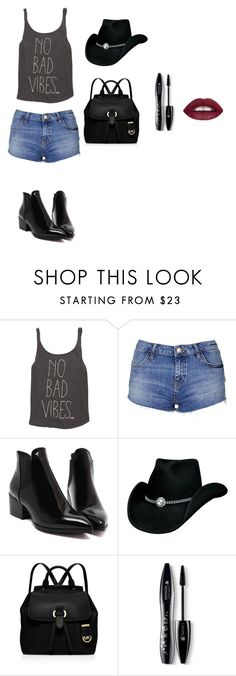 """Untitled #16"" by elma-camdzic ❤ liked on Polyvore featuring Billabong, Topshop, MICHAEL Michael Kors and Lancôme"