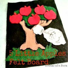 5 Little Apples Felt Board Tutorial