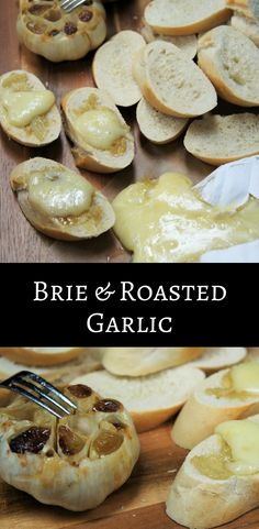 Brie Cheese Recipes, Baked Brie Recipes, Garlic Recipes, Brie Appetizer, Yummy Appetizers, Appetizer Recipes, Bread Appetizers, Seasonal Food, Savoury Dishes