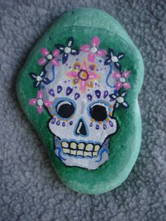 Day of the Dead Skull with Flowers by CharmingKawaiiArts