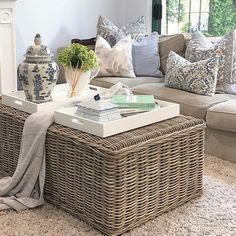 """Florist, Home & Gift Store on Instagram: """"Only one of these rattan coffee tables left in-store @thatprettymarket So perfect for coastal living. . . . #coastalliving #hamptonsliving…"""" Rattan Coffee Table, Coffee Tables, Gift Store, Coastal Living, Home Gifts, Shop, Furniture, Instagram, Home Decor"""