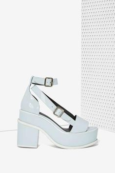 YES Agate Patent Leather Platforms #platforms #covetme