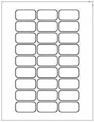 Free blank LIP BALM TUBE label template download: WL-5051