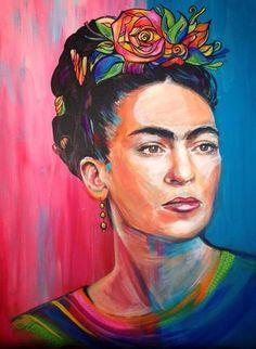 Frida Kahlo Portrait Original Painting   eBay Seller gillybrennan