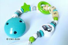 Schnullerketten - Schnullerkette für Jungs mit Boot - ein Designerstück von ENO-BUBI bei DaWanda