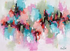 """Buy Abstract in Acrylic 'Symphony Unfolding' 30""""x40"""", Acrylic painting by Emma…"""