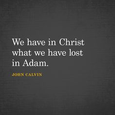 We have in Christ what we have lost in Adam. Fear Quotes, Faith Quotes, Pastor Quotes, Christian Life, Christian Quotes, Cool Words, Wise Words, John Calvin Quotes, 5 Solas