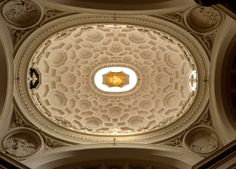 Borromini; View into the dome of S.Carlo alle Quattro Fontane, 1637-41, Rome.