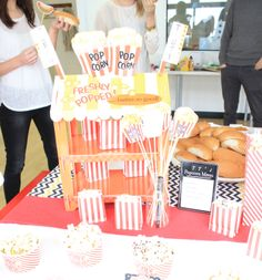 A fun popcorn stand for movie night parties or an easy healthy treat for kids. This stand is reversible to make a cool Hot Dog Stand. Only £16.50 #PopcornParty