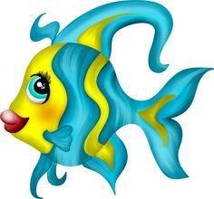 Fish Drawings, Cartoon Drawings, Art Drawings, Cartoon Sea Animals, Cartoon Fish, Fish Wall Art, Fish Art, Mermaid Under The Sea, Fish Crafts