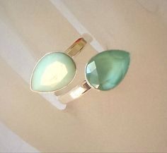 Swarovski crystal 14X10 pear fancy stone ring mint alabaster and mint green | Jewelry & Watches, Handcrafted, Artisan Jewelry, Rings | eBay!