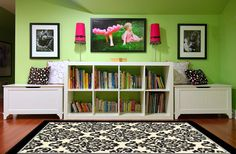 or maybe this green color for the playroom