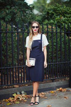 Тренд весна-лето 2015: платья и юбки с эффектом фартука!