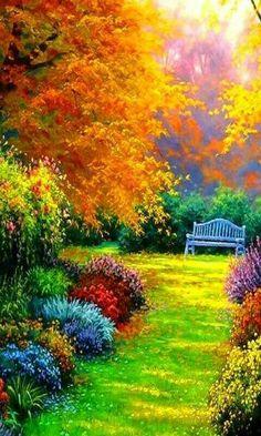80 Stunning Japanese Garden Ideas Plants You Will Love - R Beautiful Nature Wallpaper, Beautiful Paintings, Beautiful Landscapes, Beautiful Gardens, Beautiful Images, Beautiful Flowers, Beautiful Park, Fantasy Landscape, Landscape Art