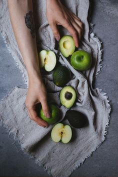 Apple & Gorgonzola Galette (recipe and photograpy by Tanya Balyanitsa (more on Honeytanie.com)