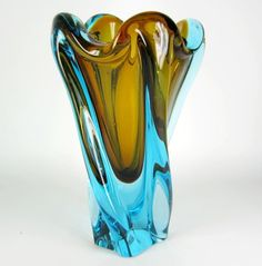 Murano sommerso glass vase by Salviati & Co, Venice, Italy mid. 20th Cent.