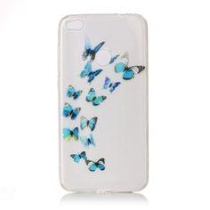 Coque Huawei P8 Lite 2017 Transparent - Papillons Bleus