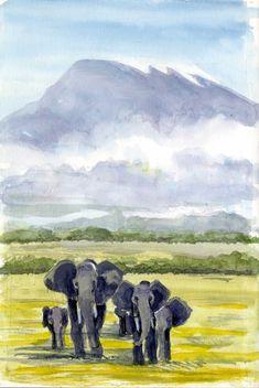 James Richards Sketchbook: Kenya: A Transformational Experience Travel Sketchbook, Art Sketchbook, Watercolor Journal, Watercolor Art, James Richards, Man Sketch, Reading Art, Urban Sketchers, Animal Sketches