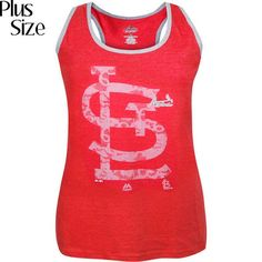 St. Louis Cardinals Women's Plus Size In My Way Tank Top - Red - $31.99
