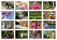 52 Days: collage of free outdoor activities for children