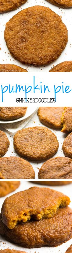 Healthy Pumpkin Pie Snickerdoodles -- perfectly chewy & only 103 calories! These skinny cookies really taste JUST like pumpkin pie!