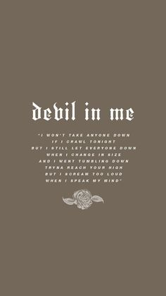 devil in me lyrics