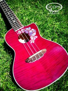 Luna Guitars Floral Concert Ukulele at GoDpsMusic.com.     I love the fact that Luna Guitars has much more than guitars!