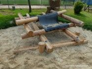 The sand play area