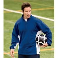 [F262]  1/4 Zip Sweatshirt With Contrast Color    Contrasting color on the gussets and arms give this sweatshirt sporty personality. A fan favorite, it's super comfy, colorfast and shrink resistant so it will last season after season. 9-ounce, 60/40 ring spun combed cotton/poly Twill-taped neck seam Locker patch Dyed-to-match zipper Rib knit cuffs Side vents Open hem    Product code: F262  Qty:1-1112-2425+  ea.$22.98$22.98
