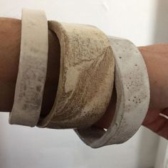 Ok ! Is there anything this woman can't do ! Her work is art!! These my friends are ceramic bangles from @allfiredup.pottery ! No words can describe how absolutely gorgeous they are !!!...
