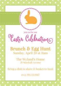 Free Customizable Easter Invitations