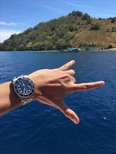 Rolex Submariner back to where it's belong: ocean! Taken in Komodo islands, Flores, Indonesia