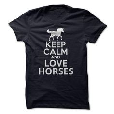 "Keep Calm and love Horses. Cute vintage T-shirts ""Funny Horses"". Every day, new awesome projects with cool design. In stock: - T-Shirts, Hoodies & Sweatshirts, Long Sleeve Tees, Tank Tops. - 100% Cotton. Comfortable, top quality apparel. - High-quality products from SunFrog. SunFrog products are printed in the U.S.A. on authentic high-quality garments and satisfaction is 100% guaranteed. Shop The Look: https://www.sunfrog.com/iBruster/horse"