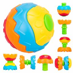 OTRESS Baby Kids Funny Transformatio Fitness Ball Models & Building Toy Blocks Learning Educational Building Toys BA934 #Affiliate