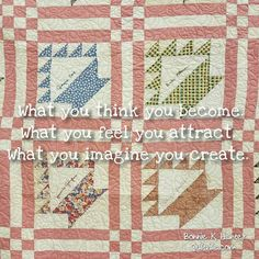 Let your first thoughts about yourself today be kind and encouraging! Vintage basket quilt top with signatures machine quilted by Allison Bayer, shared during my recent trip to Texas. #quiltsbyyou . . . . #quilt #quilting #patchwork #quiltville #bonniekhunter #vintagequilt #antiquequilt #deepthoughts #wisewords #wordsofwisdom #quiltvillequote #quote #inspiration #scrapquilt