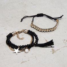 SET OF BRACELETS, CROPP Tassel Necklace, Bracelets, Jewelry, Fashion, Moda, Jewlery, Jewerly, Fashion Styles, Schmuck