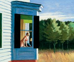 Edward Hopper... the artist who always used his wife as his model ... because she asked him to. Good man.