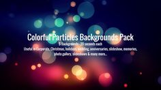 Colorful Particles - FREE FOOTAGE