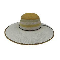 5629063104f42 Striped Crown Bangkok Toyo Summer Floppy Hat - Scala — SetarTrading Hats