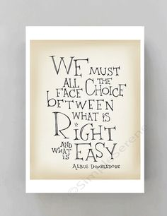 Albus Dumbledore quote poster  Harry Potter movie by SimpleSerene, $15.00