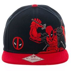 45645d8a Buy on Amazon.com - Marvel Comics Deadpool Katana Pose Embroidered Snapback  Marvel Hats,