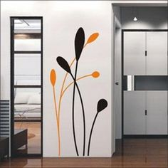 DIY Adhesive Wall stickers - comes in 2 stickers and you pick what two colors you want. Very cool!